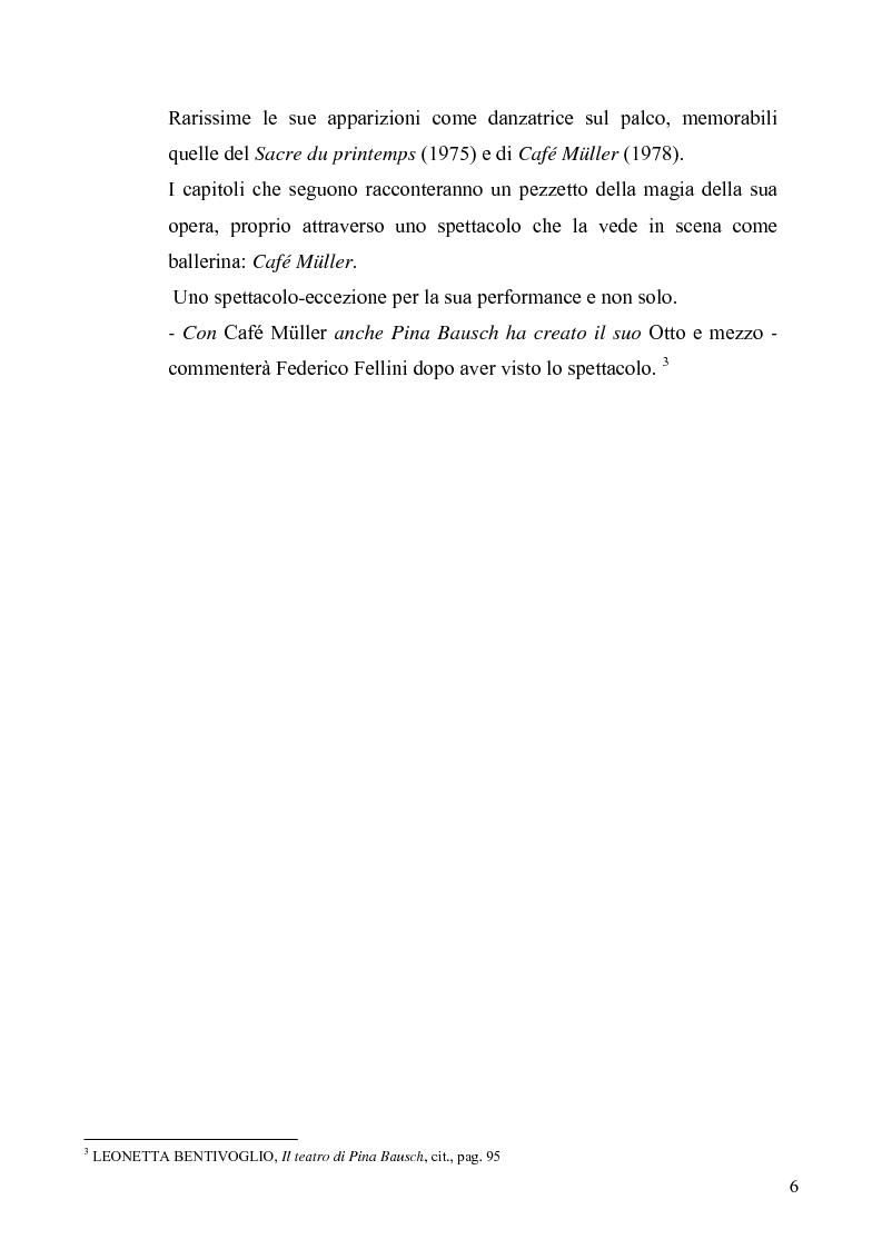 Anteprima della tesi: Café Muller di Pina Bausch. Analisi critica, Pagina 4