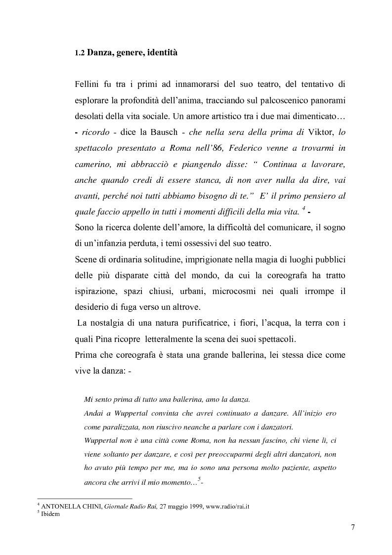 Anteprima della tesi: Café Muller di Pina Bausch. Analisi critica, Pagina 5