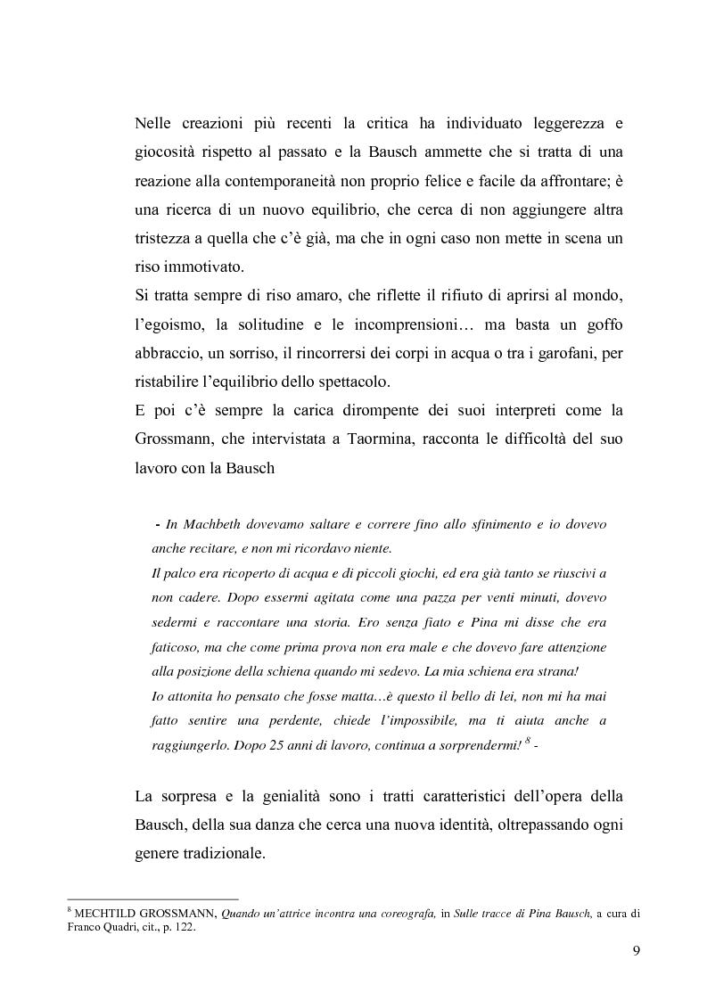 Anteprima della tesi: Café Muller di Pina Bausch. Analisi critica, Pagina 7