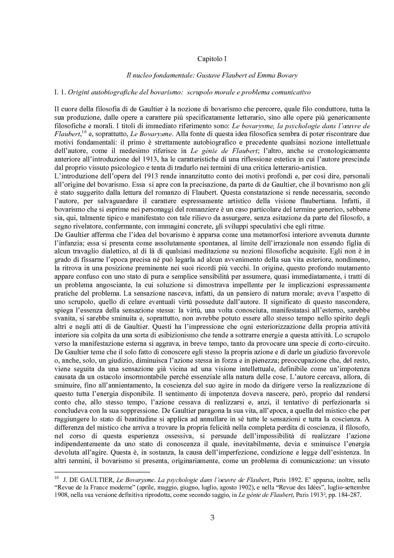 Anteprima della tesi: Jules de Gaultier : la filosofia del bovarismo. Un philosophe nouveau nella cultura francese del primo Novecento, Pagina 3