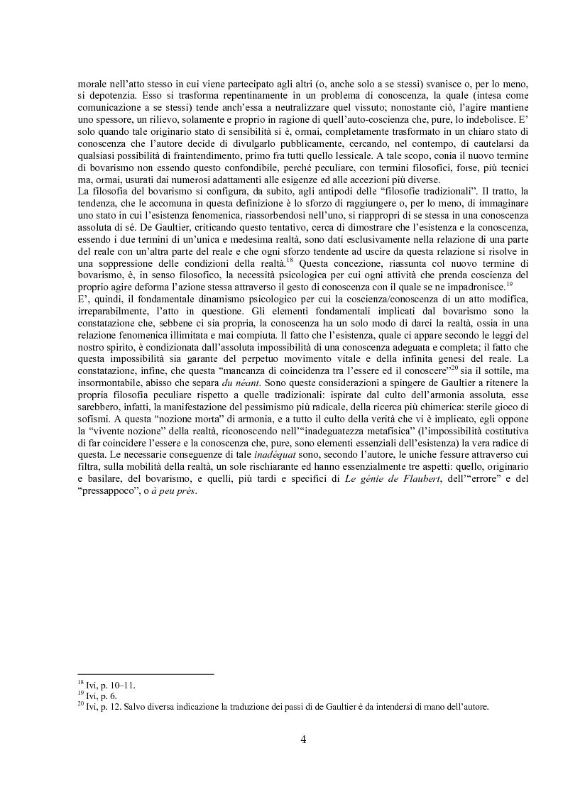 Anteprima della tesi: Jules de Gaultier : la filosofia del bovarismo. Un philosophe nouveau nella cultura francese del primo Novecento, Pagina 4