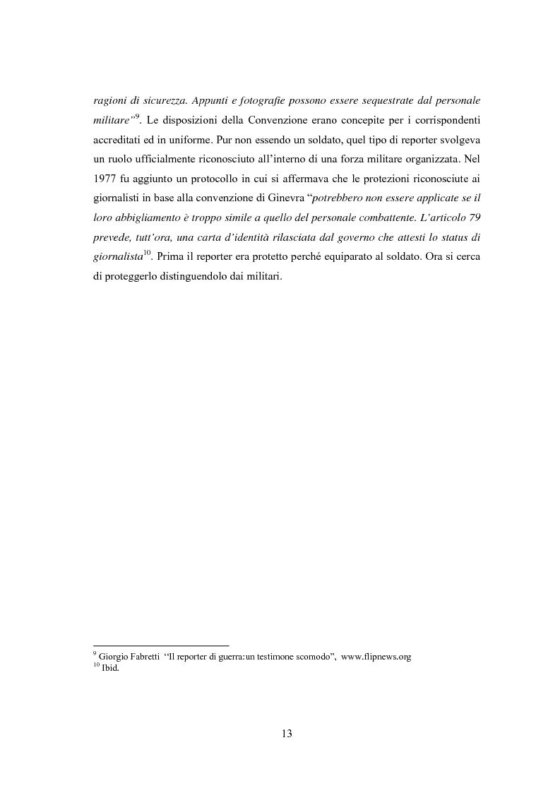Anteprima della tesi: Professione reporter di guerra: da Russell ad Al-Jazeera storie, analisi ed evoluzione di un mestiere difficile, Pagina 13