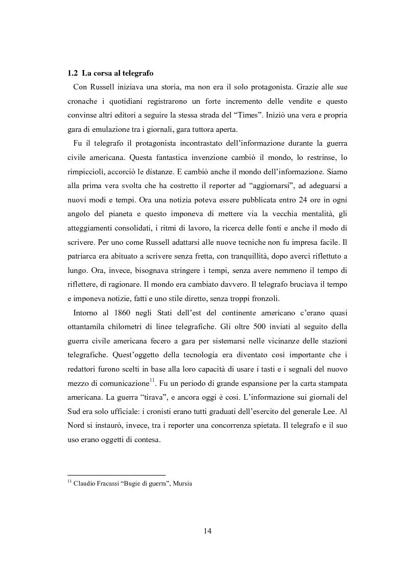 Anteprima della tesi: Professione reporter di guerra: da Russell ad Al-Jazeera storie, analisi ed evoluzione di un mestiere difficile, Pagina 14