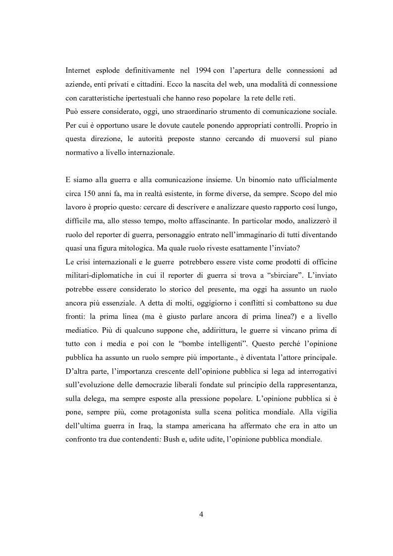 Anteprima della tesi: Professione reporter di guerra: da Russell ad Al-Jazeera storie, analisi ed evoluzione di un mestiere difficile, Pagina 4