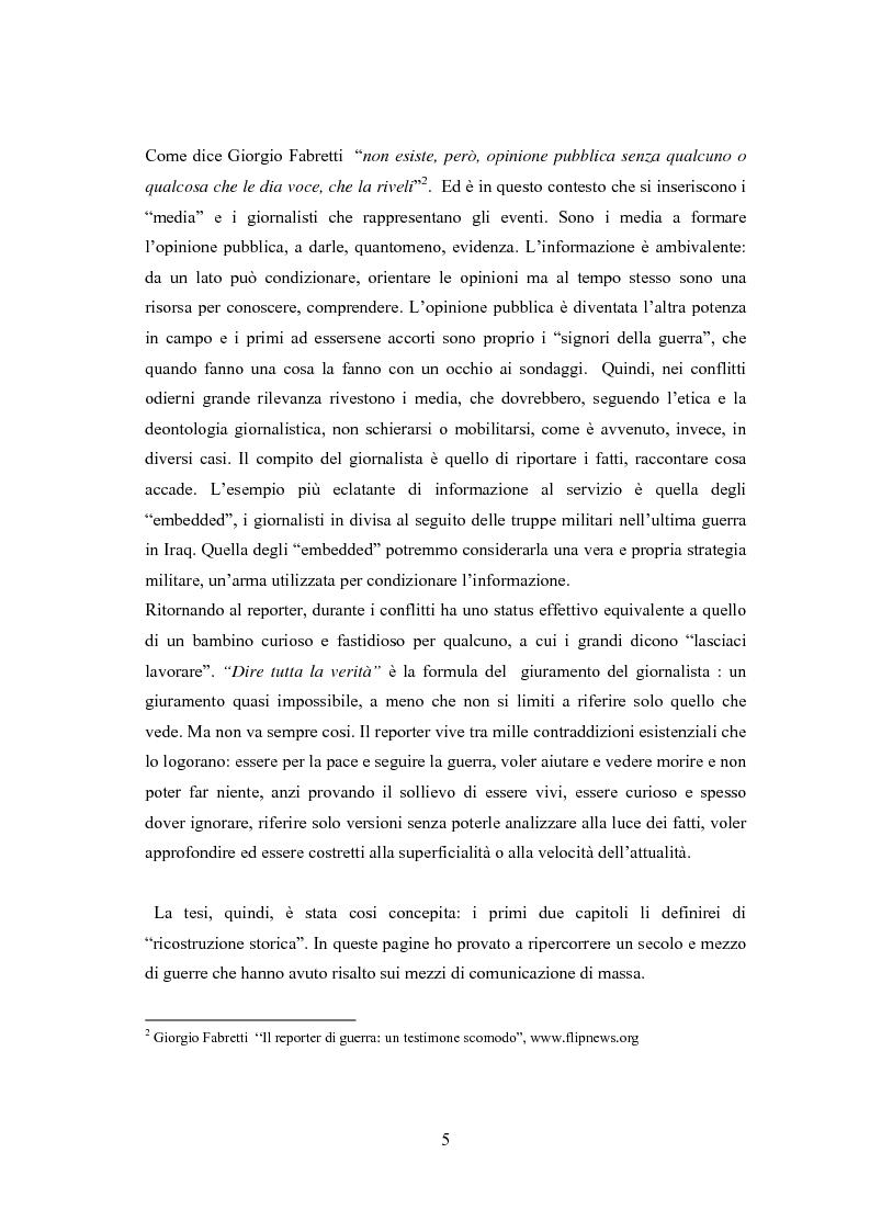 Anteprima della tesi: Professione reporter di guerra: da Russell ad Al-Jazeera storie, analisi ed evoluzione di un mestiere difficile, Pagina 5