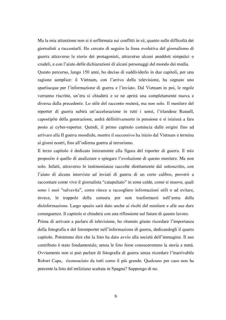 Anteprima della tesi: Professione reporter di guerra: da Russell ad Al-Jazeera storie, analisi ed evoluzione di un mestiere difficile, Pagina 6