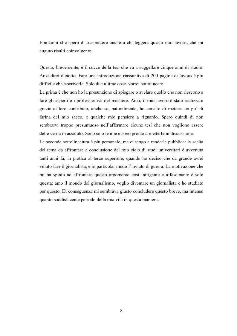 Anteprima della tesi: Professione reporter di guerra: da Russell ad Al-Jazeera storie, analisi ed evoluzione di un mestiere difficile, Pagina 8