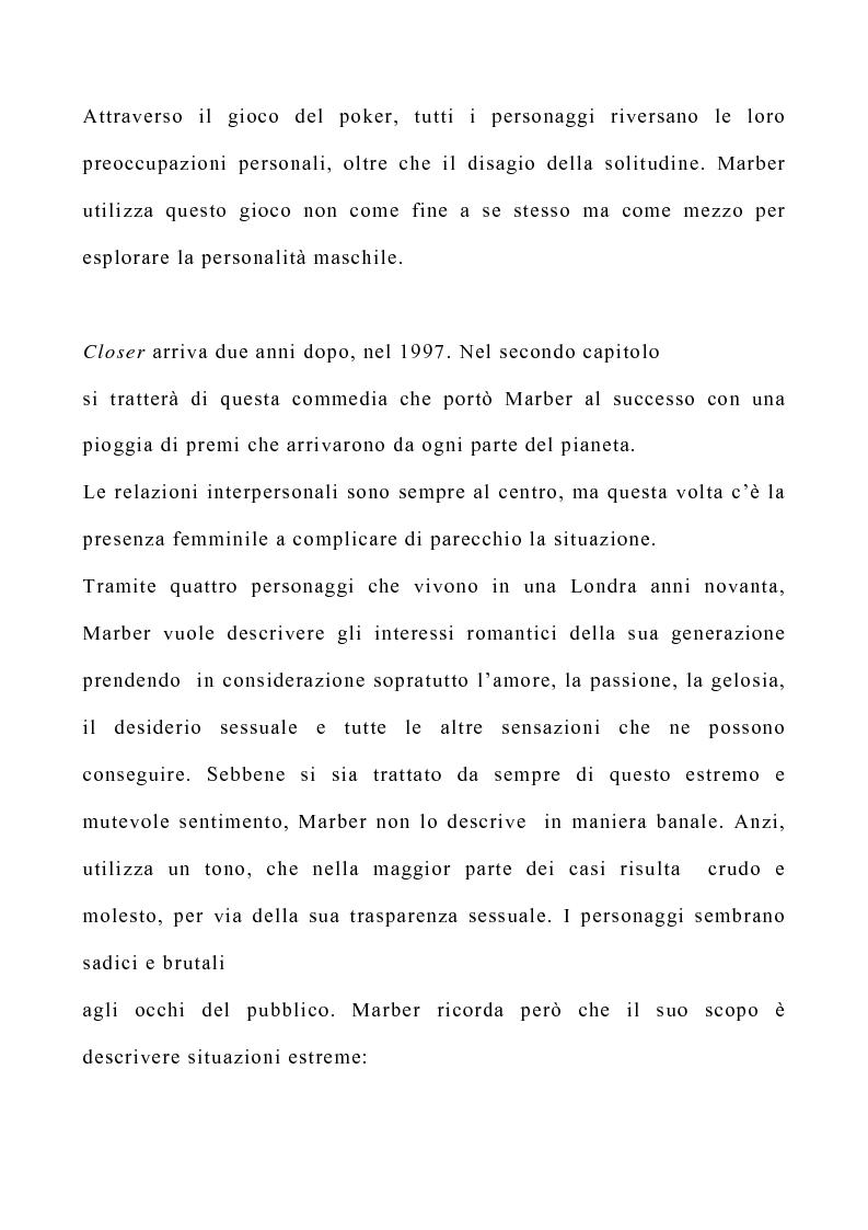 Anteprima della tesi: Il teatro di Patrick Marber, Pagina 3
