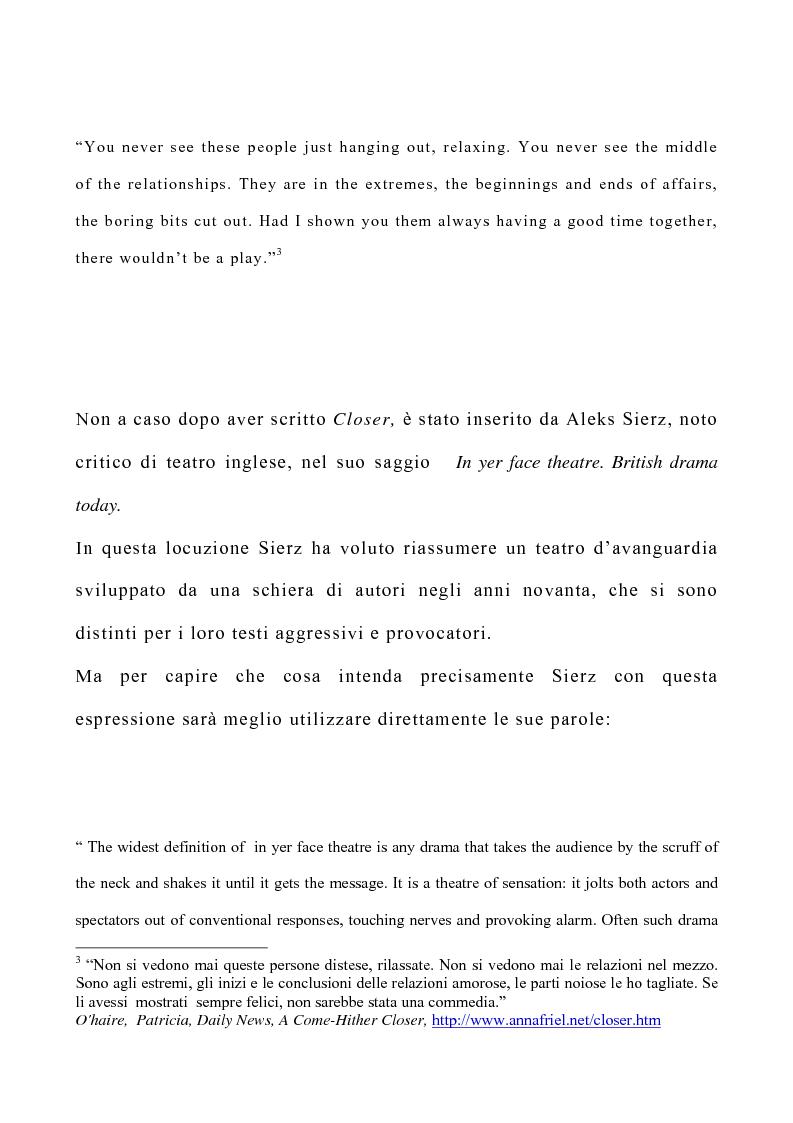 Anteprima della tesi: Il teatro di Patrick Marber, Pagina 4