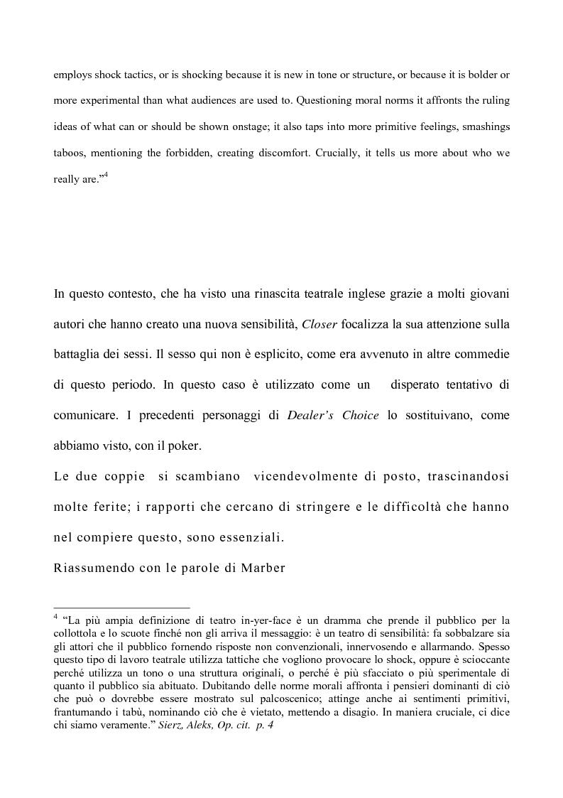 Anteprima della tesi: Il teatro di Patrick Marber, Pagina 5