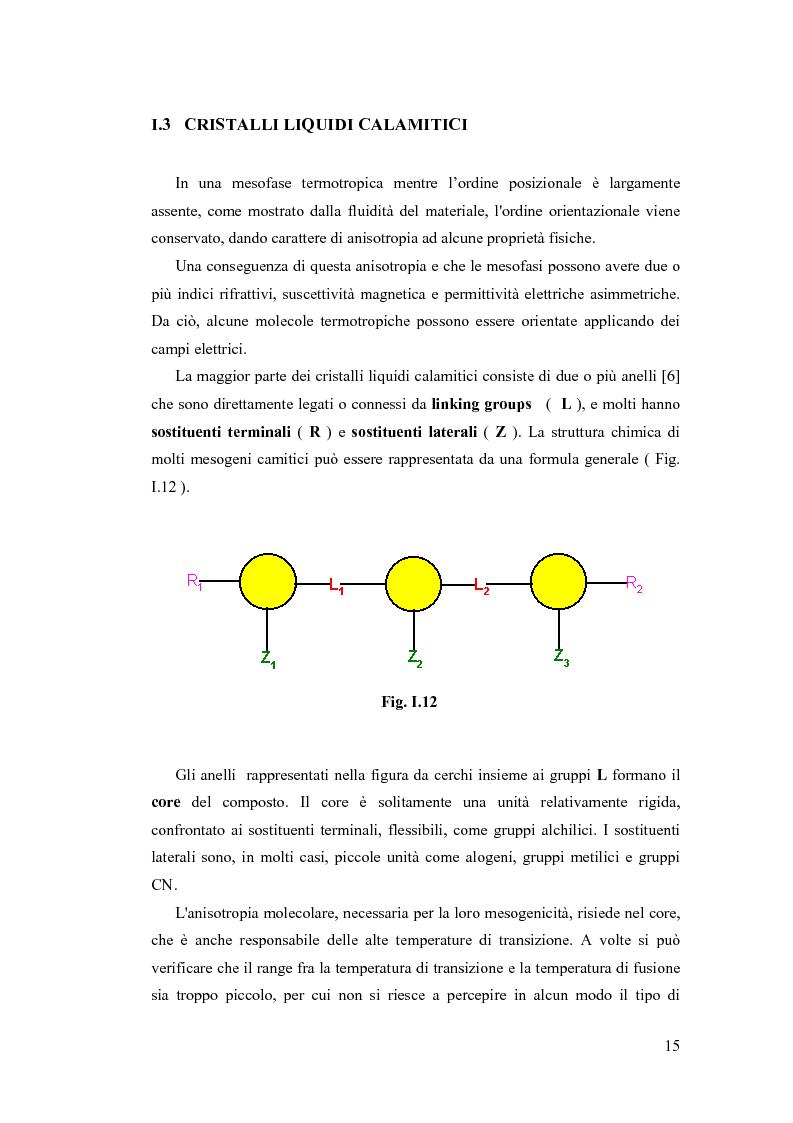 Anteprima della tesi: Sintesi e Caratterizzazione Mediante Diffrattometria a Raggi X su Polveri Cristalline a Temperatura Variabile di Nuovi Materiali Liquido-Cristallini, Pagina 10