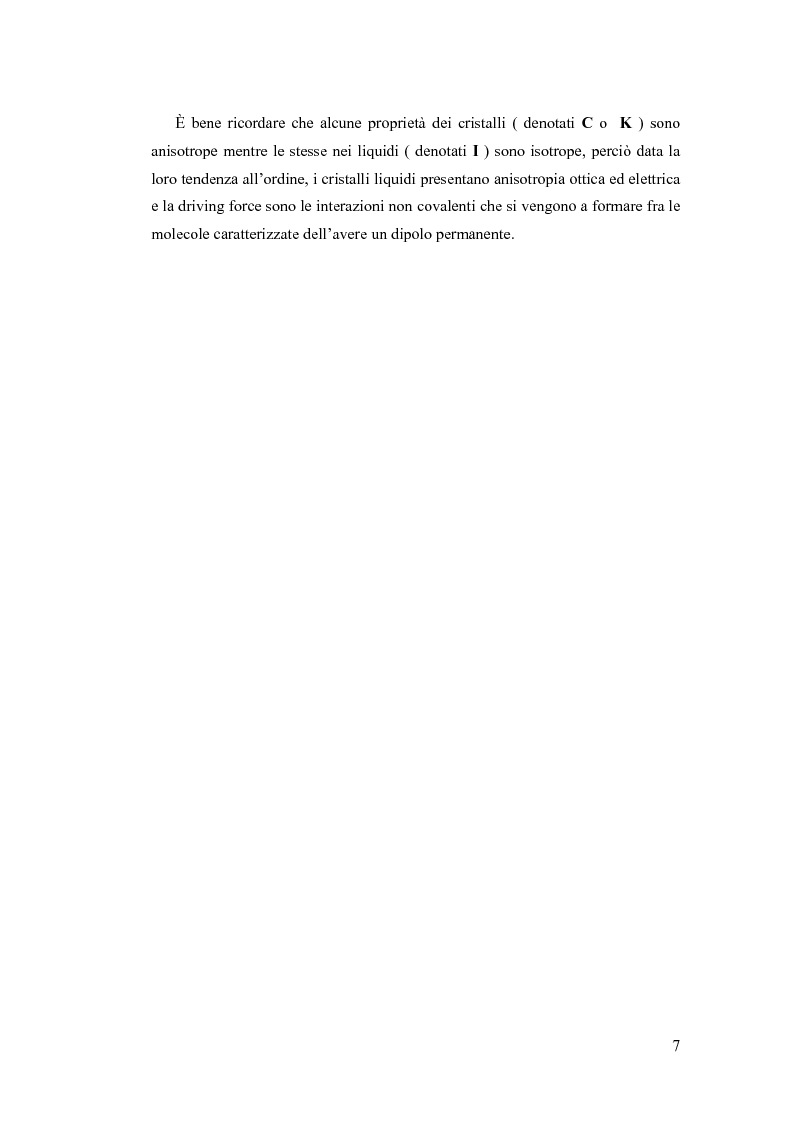 Anteprima della tesi: Sintesi e Caratterizzazione Mediante Diffrattometria a Raggi X su Polveri Cristalline a Temperatura Variabile di Nuovi Materiali Liquido-Cristallini, Pagina 2