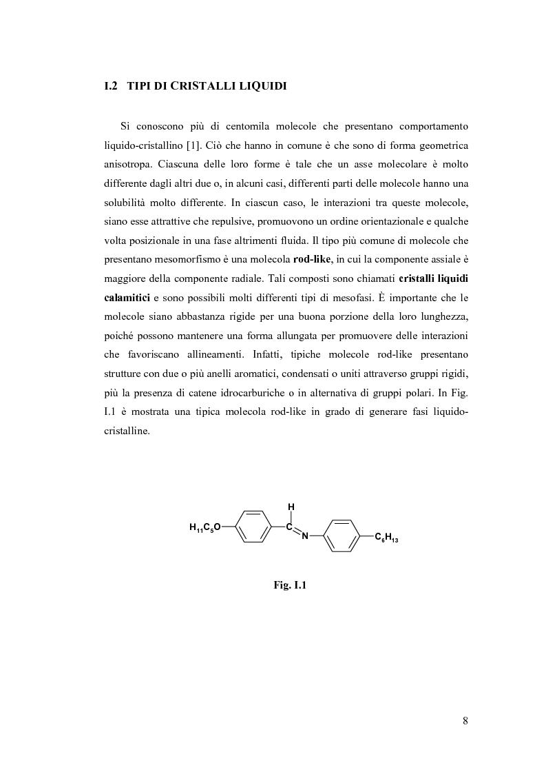 Anteprima della tesi: Sintesi e Caratterizzazione Mediante Diffrattometria a Raggi X su Polveri Cristalline a Temperatura Variabile di Nuovi Materiali Liquido-Cristallini, Pagina 3
