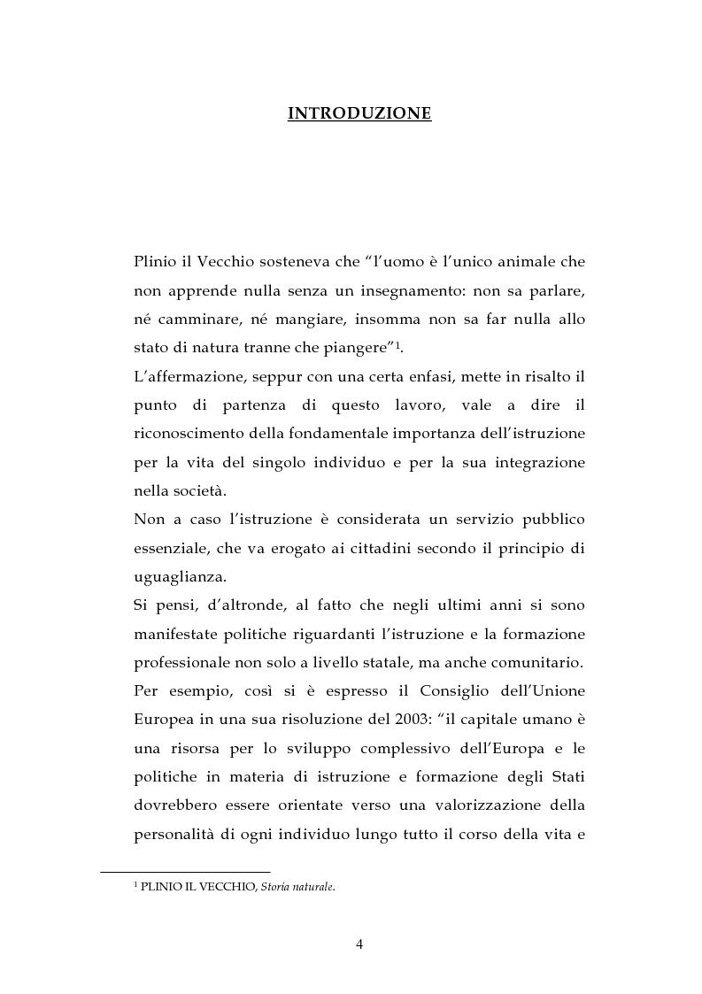 Anteprima della tesi: L'ordinamento dell'istruzione in Italia e in Spagna, Pagina 1