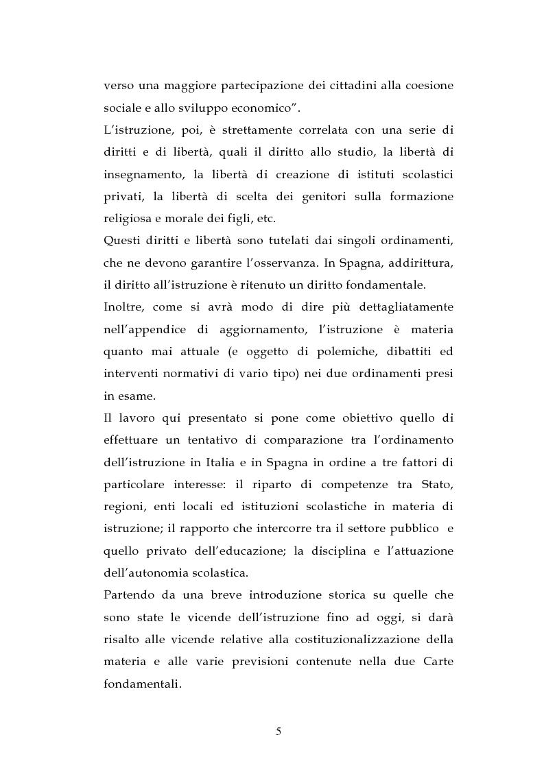 Anteprima della tesi: L'ordinamento dell'istruzione in Italia e in Spagna, Pagina 2
