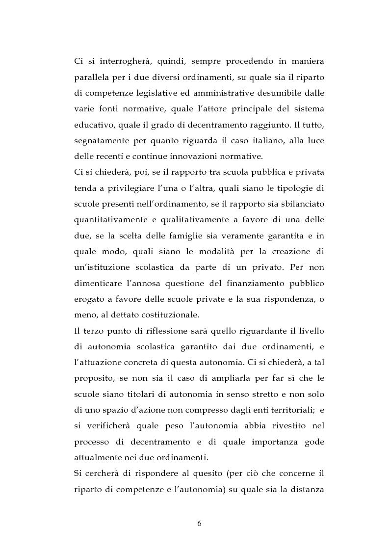 Anteprima della tesi: L'ordinamento dell'istruzione in Italia e in Spagna, Pagina 3
