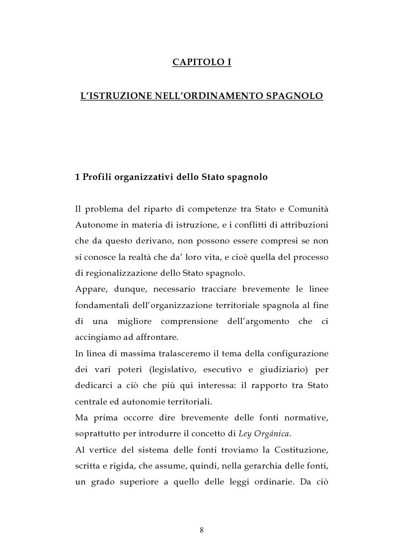 Anteprima della tesi: L'ordinamento dell'istruzione in Italia e in Spagna, Pagina 5