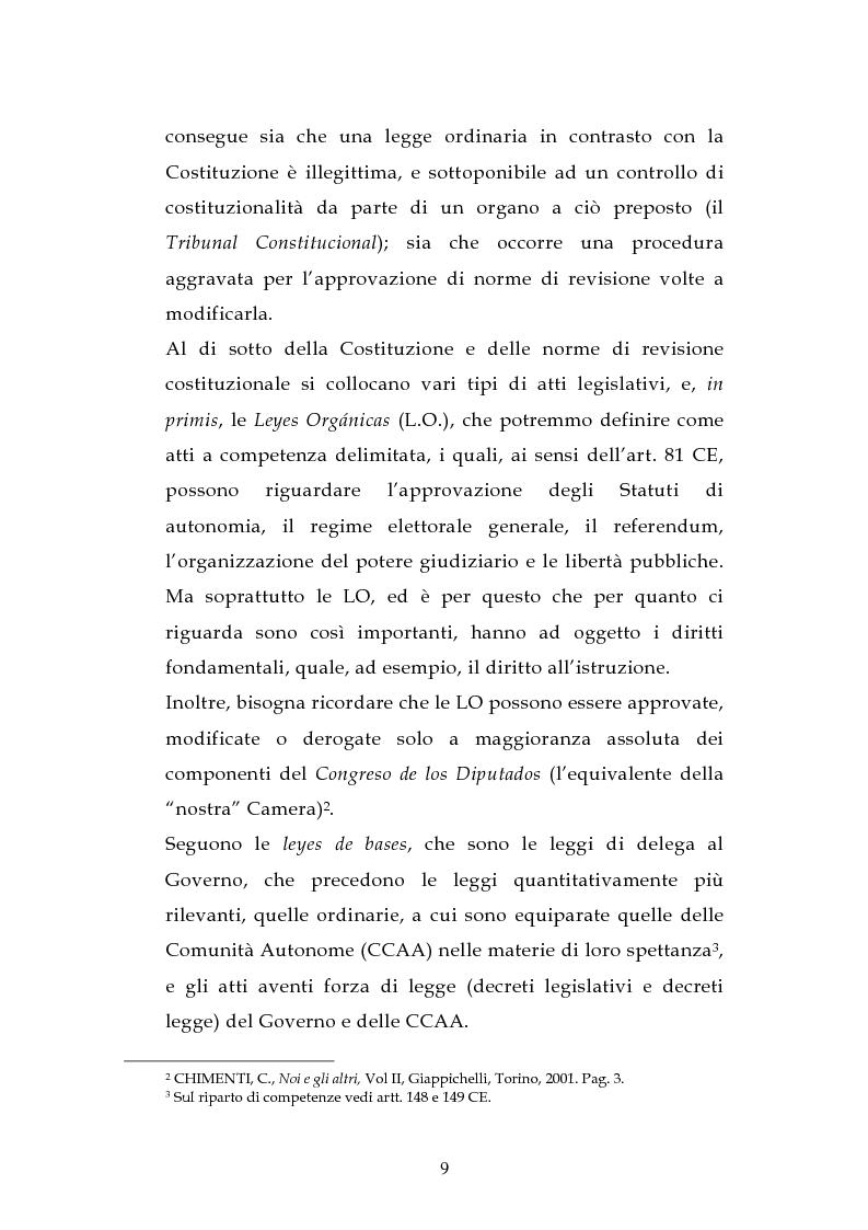 Anteprima della tesi: L'ordinamento dell'istruzione in Italia e in Spagna, Pagina 6