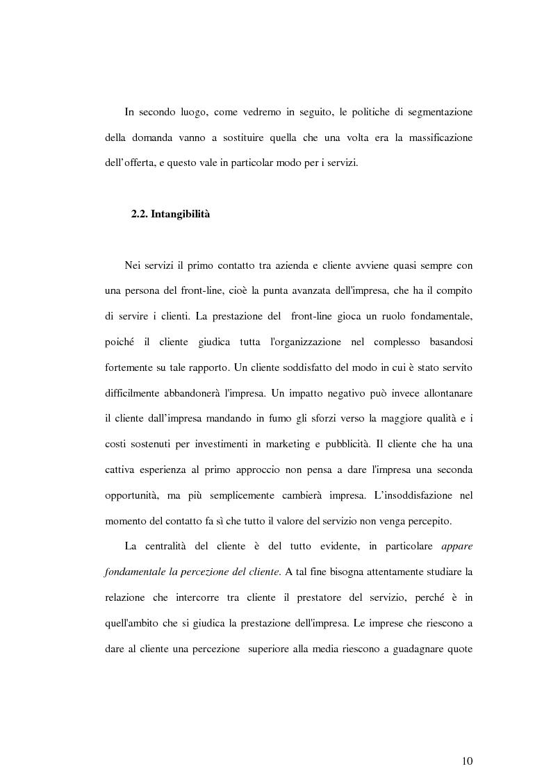 Anteprima della tesi: La soddisfazione del consumatore nelle imprese di pubblici servizi: il caso dei trasporti, Pagina 10