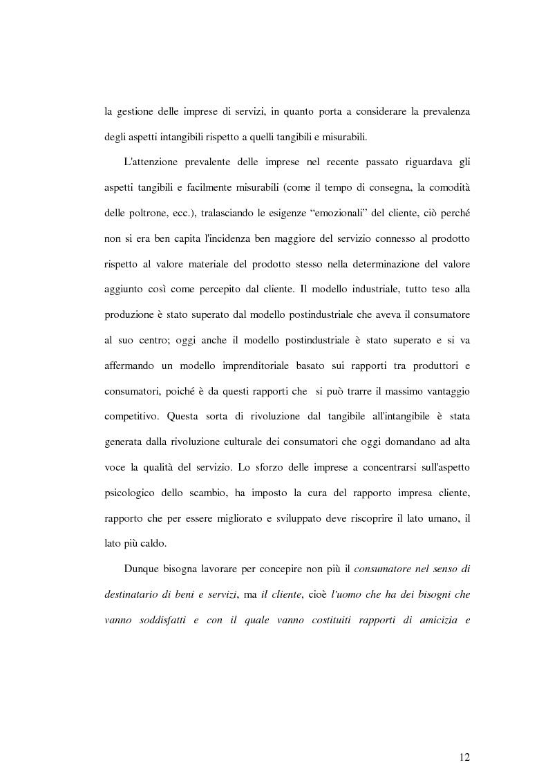Anteprima della tesi: La soddisfazione del consumatore nelle imprese di pubblici servizi: il caso dei trasporti, Pagina 12