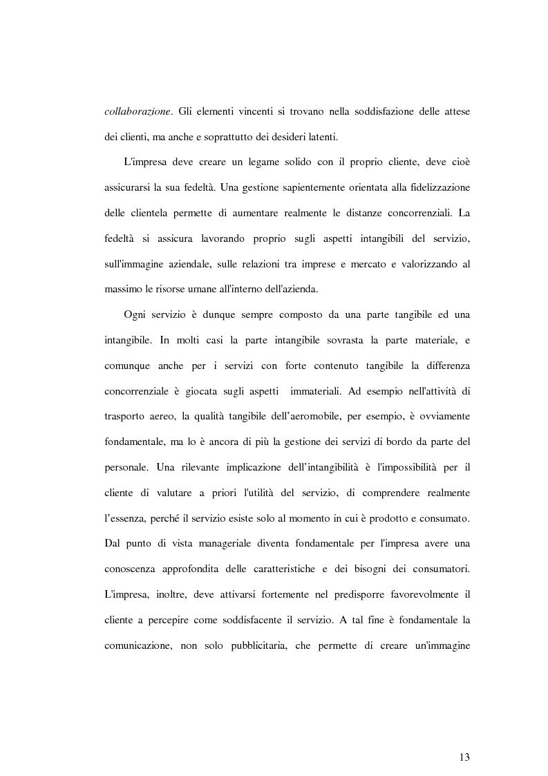 Anteprima della tesi: La soddisfazione del consumatore nelle imprese di pubblici servizi: il caso dei trasporti, Pagina 13