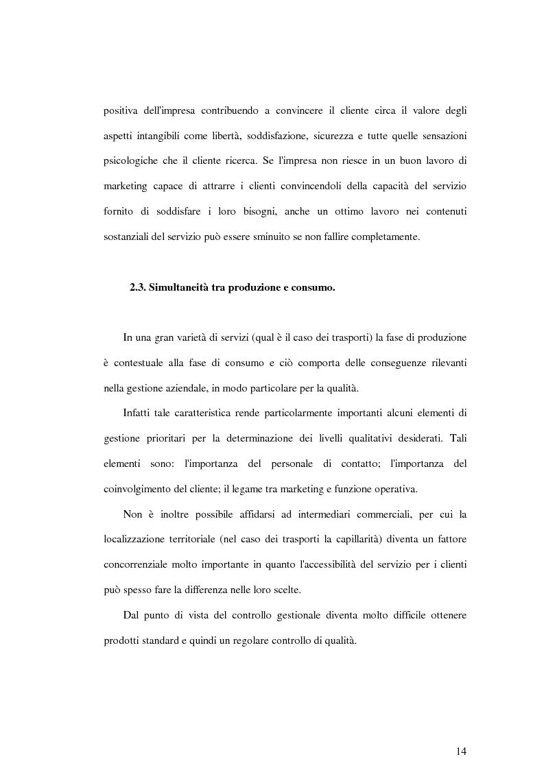 Anteprima della tesi: La soddisfazione del consumatore nelle imprese di pubblici servizi: il caso dei trasporti, Pagina 14