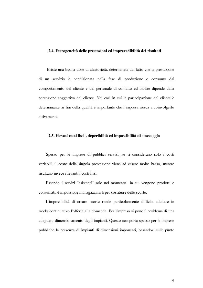 Anteprima della tesi: La soddisfazione del consumatore nelle imprese di pubblici servizi: il caso dei trasporti, Pagina 15