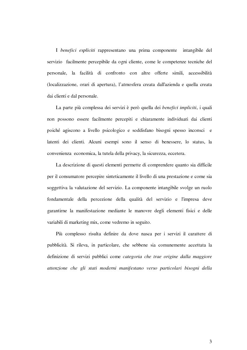 Anteprima della tesi: La soddisfazione del consumatore nelle imprese di pubblici servizi: il caso dei trasporti, Pagina 3