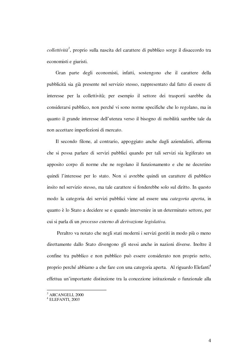 Anteprima della tesi: La soddisfazione del consumatore nelle imprese di pubblici servizi: il caso dei trasporti, Pagina 4
