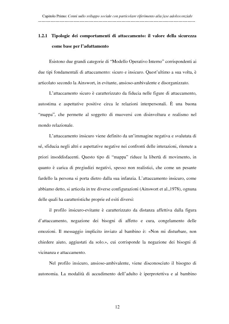 Anteprima della tesi: Adolescenti allontanati dalla famiglia: tra disagio e capacità di ''resilienza'', Pagina 12