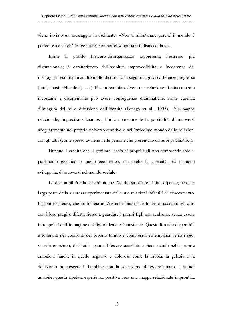 Anteprima della tesi: Adolescenti allontanati dalla famiglia: tra disagio e capacità di ''resilienza'', Pagina 13