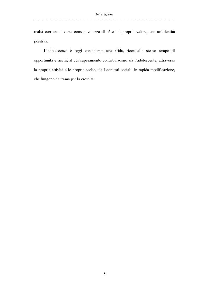 Anteprima della tesi: Adolescenti allontanati dalla famiglia: tra disagio e capacità di ''resilienza'', Pagina 5