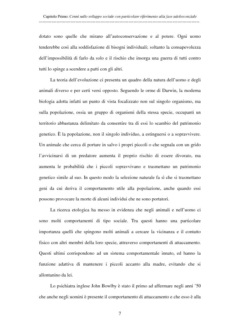 Anteprima della tesi: Adolescenti allontanati dalla famiglia: tra disagio e capacità di ''resilienza'', Pagina 7