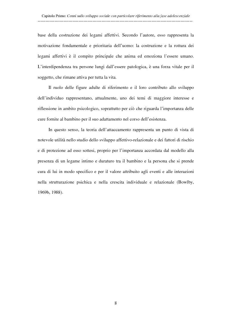 Anteprima della tesi: Adolescenti allontanati dalla famiglia: tra disagio e capacità di ''resilienza'', Pagina 8