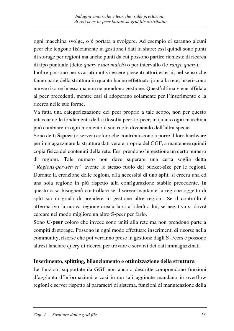Anteprima della tesi: Indagini empiriche e teoriche sulle prestazioni di reti peer-to-peer basate su grid-file distribuito, Pagina 12