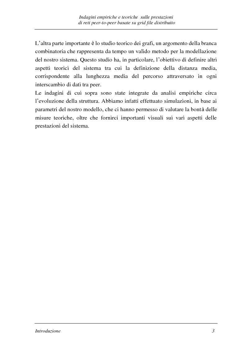 Anteprima della tesi: Indagini empiriche e teoriche sulle prestazioni di reti peer-to-peer basate su grid-file distribuito, Pagina 2