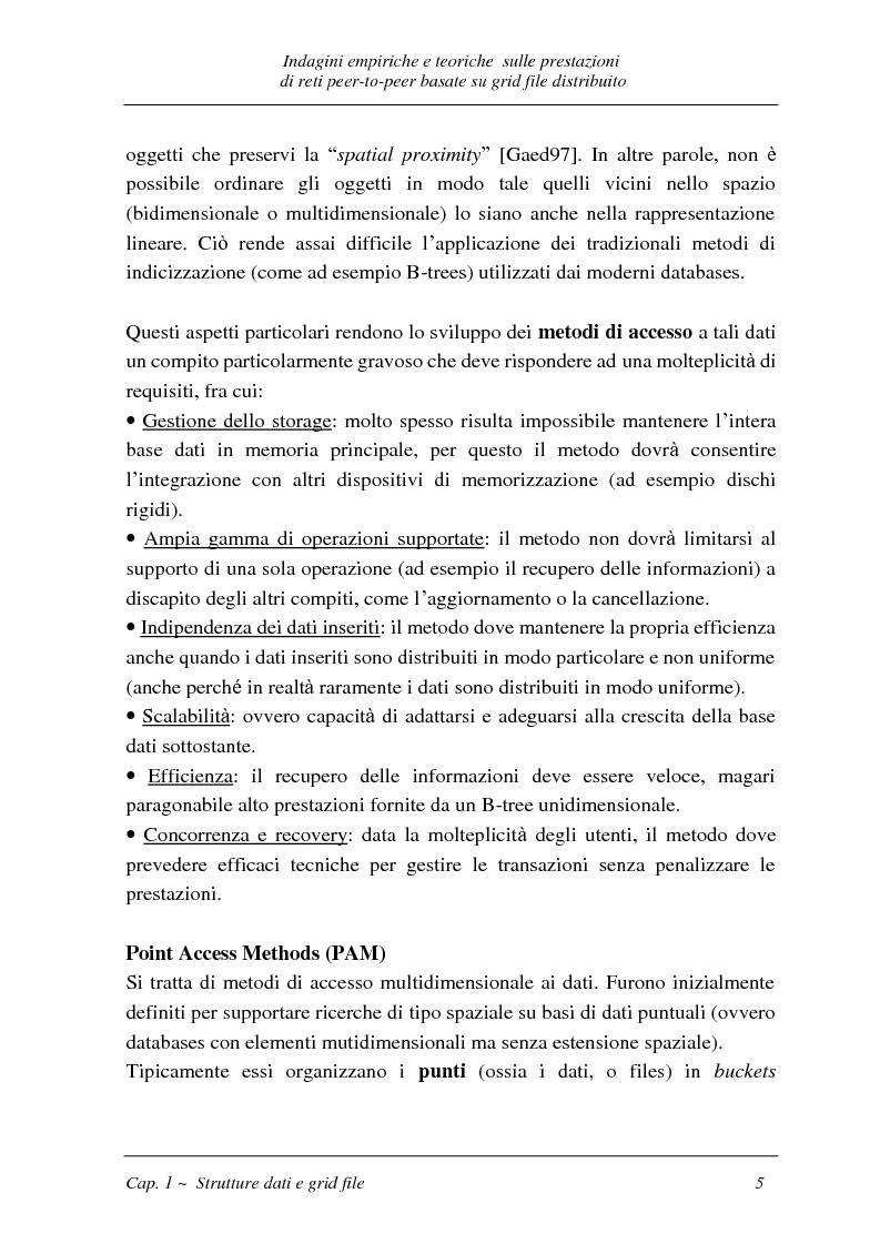 Anteprima della tesi: Indagini empiriche e teoriche sulle prestazioni di reti peer-to-peer basate su grid-file distribuito, Pagina 4