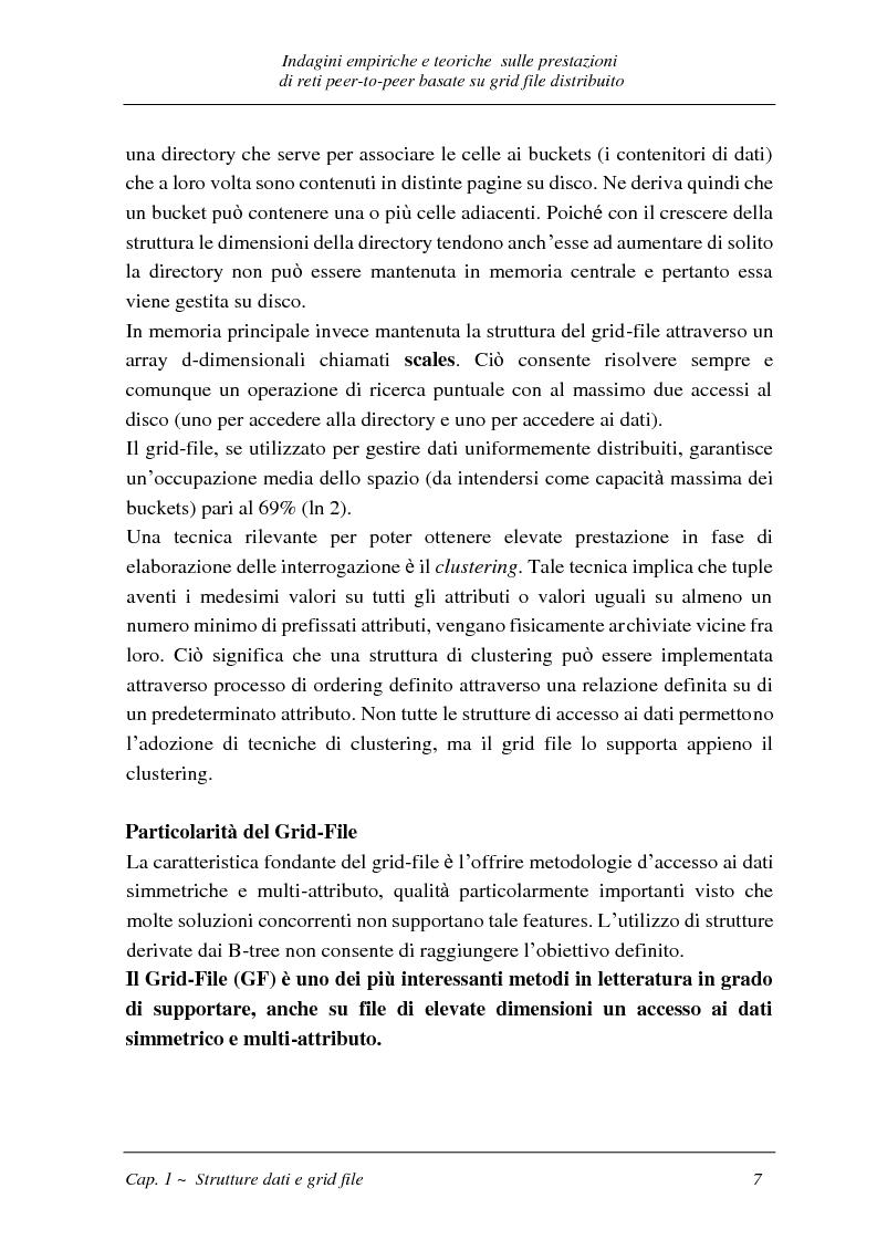 Anteprima della tesi: Indagini empiriche e teoriche sulle prestazioni di reti peer-to-peer basate su grid-file distribuito, Pagina 6