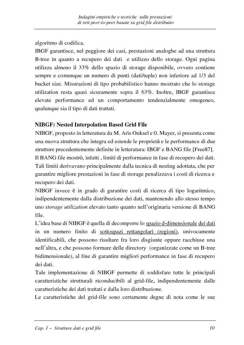 Anteprima della tesi: Indagini empiriche e teoriche sulle prestazioni di reti peer-to-peer basate su grid-file distribuito, Pagina 9