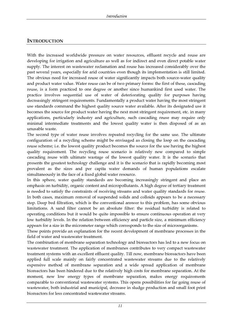 Anteprima della tesi: Rimozione di nutrienti e microinquinanti attraverso un processo a fanghi attivi assistito da membrana e carboni attivi, Pagina 6