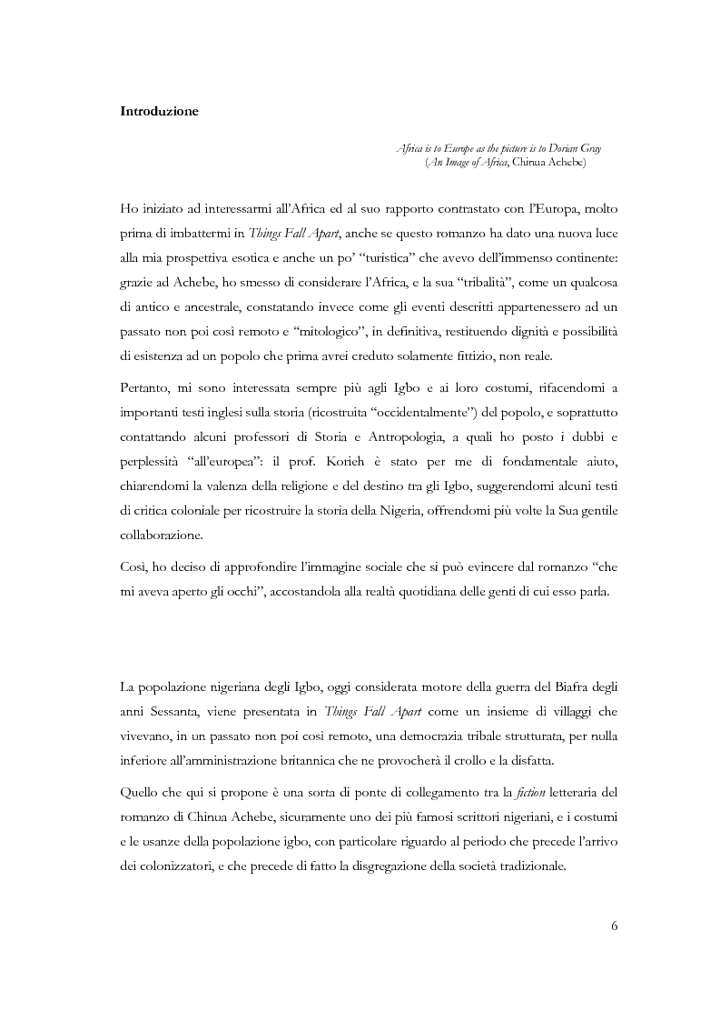 Anteprima della tesi: Chi conosce il domani? Il mondo Igbo attraverso Chinua Achebe, Pagina 1