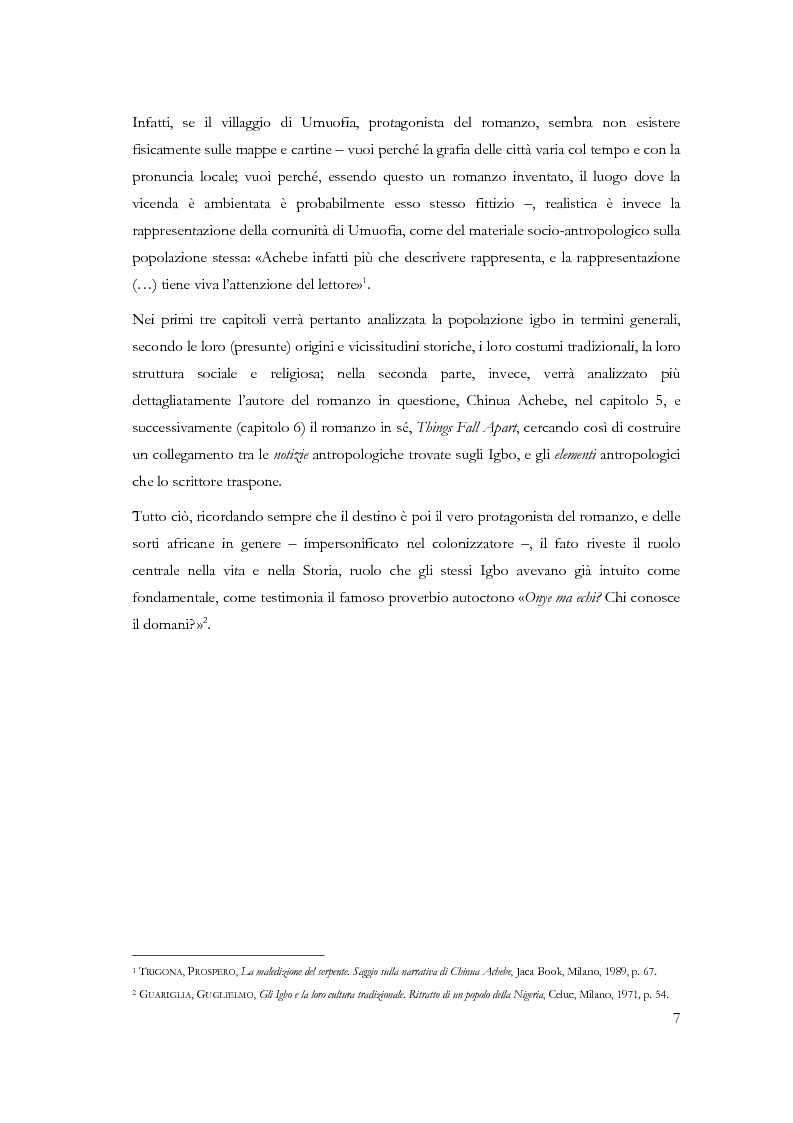 Anteprima della tesi: Chi conosce il domani? Il mondo Igbo attraverso Chinua Achebe, Pagina 2