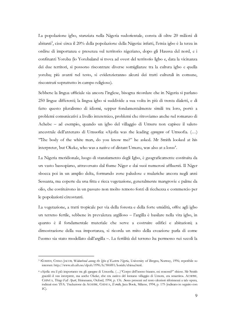 Anteprima della tesi: Chi conosce il domani? Il mondo Igbo attraverso Chinua Achebe, Pagina 4