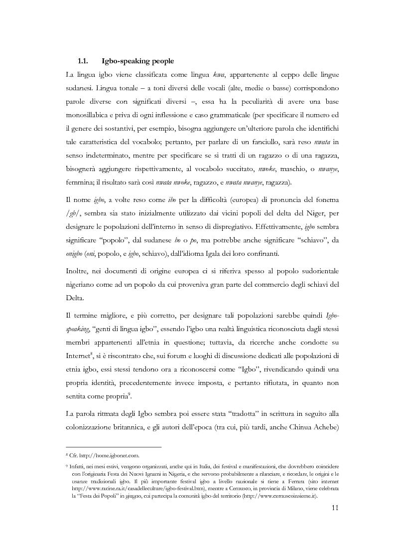 Anteprima della tesi: Chi conosce il domani? Il mondo Igbo attraverso Chinua Achebe, Pagina 6