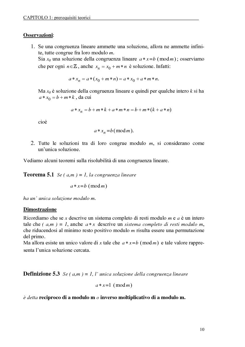 Anteprima della tesi: Il test di primalità di Miller-Rabin e il metodo crittografico di ElGamal, Pagina 10