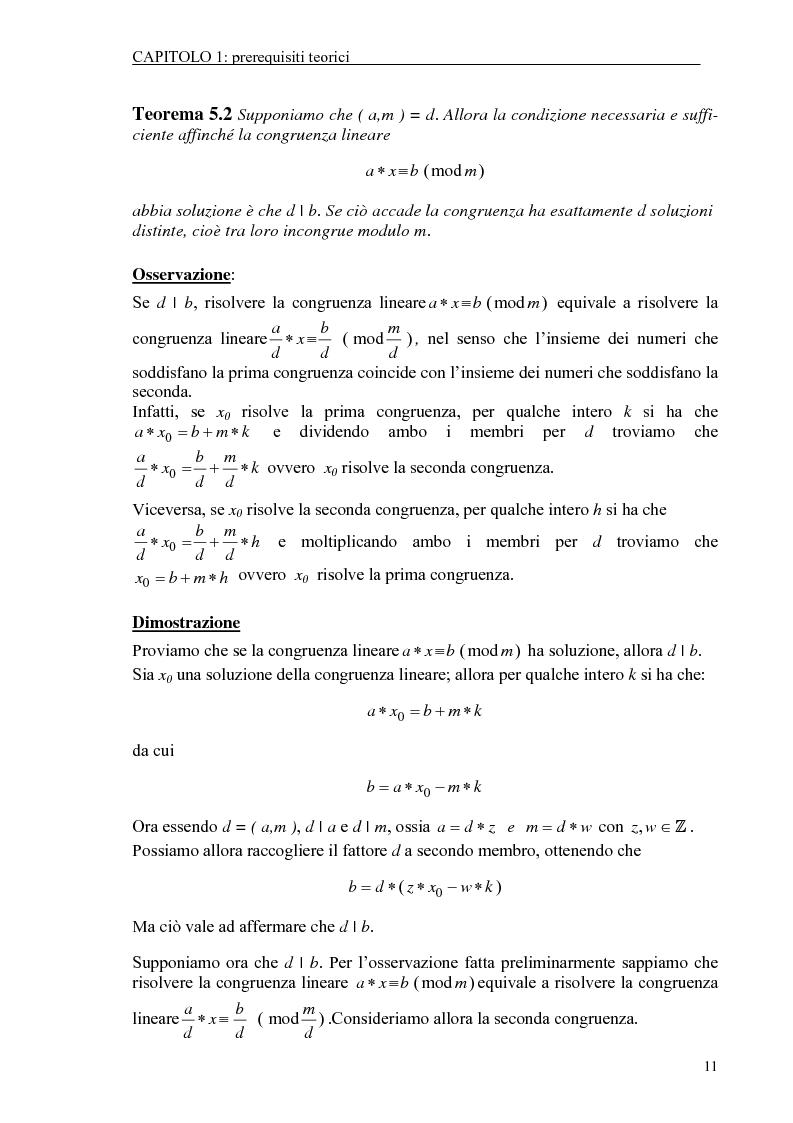 Anteprima della tesi: Il test di primalità di Miller-Rabin e il metodo crittografico di ElGamal, Pagina 11