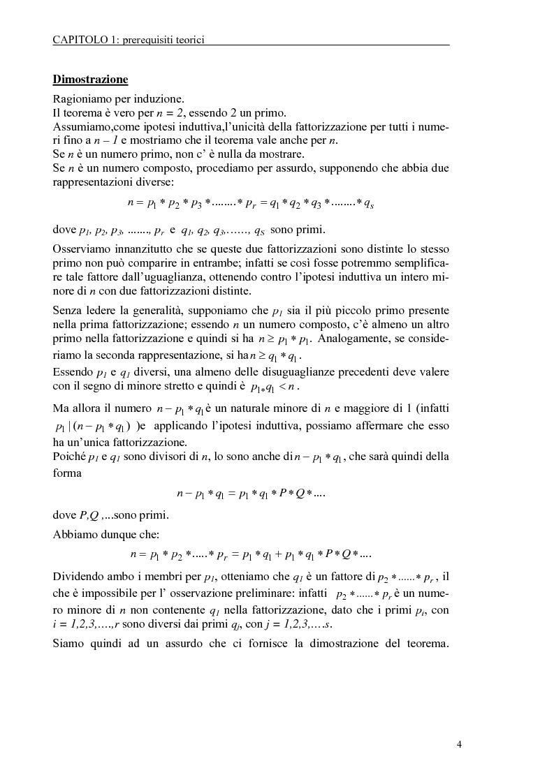Anteprima della tesi: Il test di primalità di Miller-Rabin e il metodo crittografico di ElGamal, Pagina 4