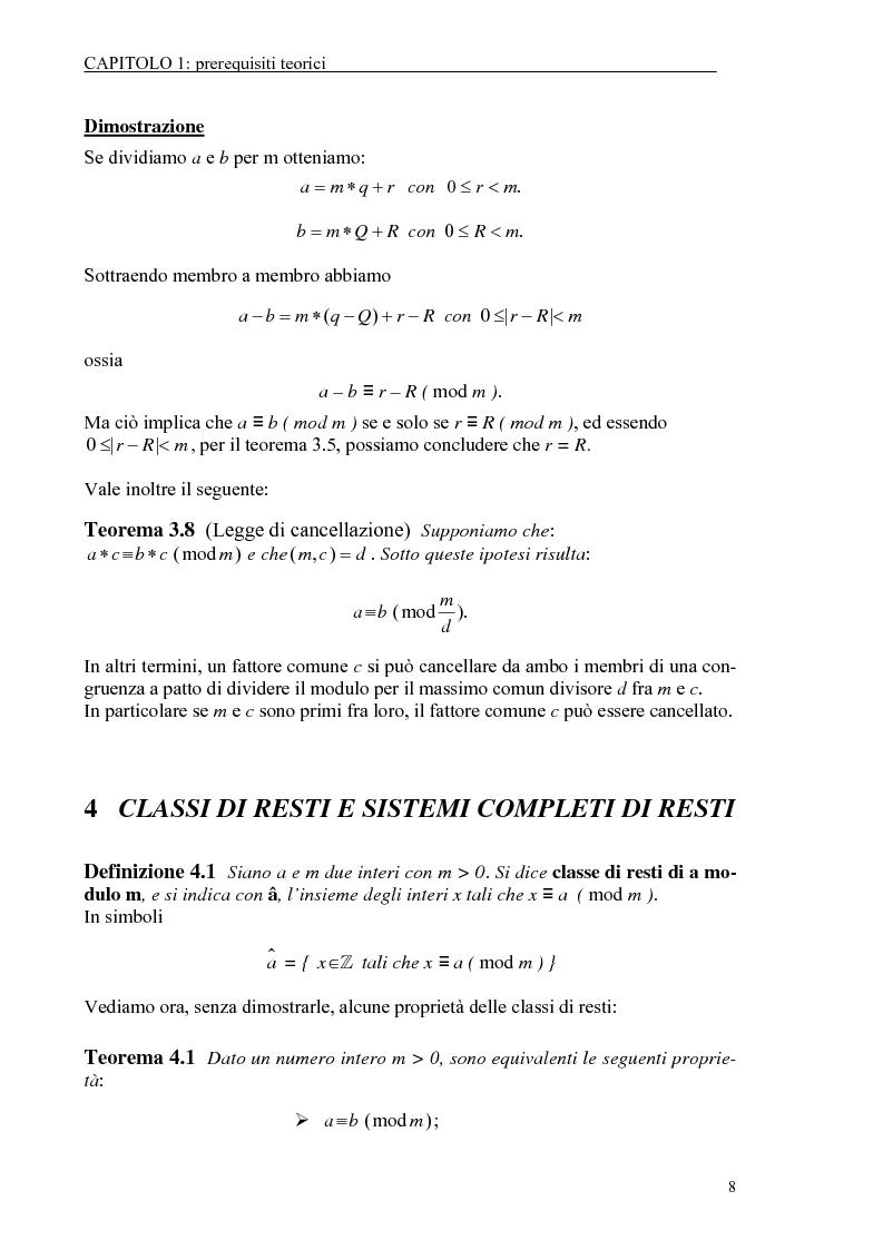 Anteprima della tesi: Il test di primalità di Miller-Rabin e il metodo crittografico di ElGamal, Pagina 8