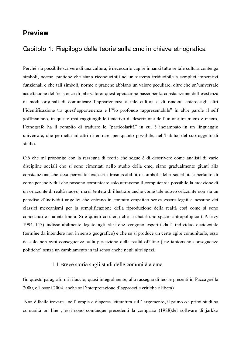 Anteprima della tesi: L' interazione in irc, Pagina 1