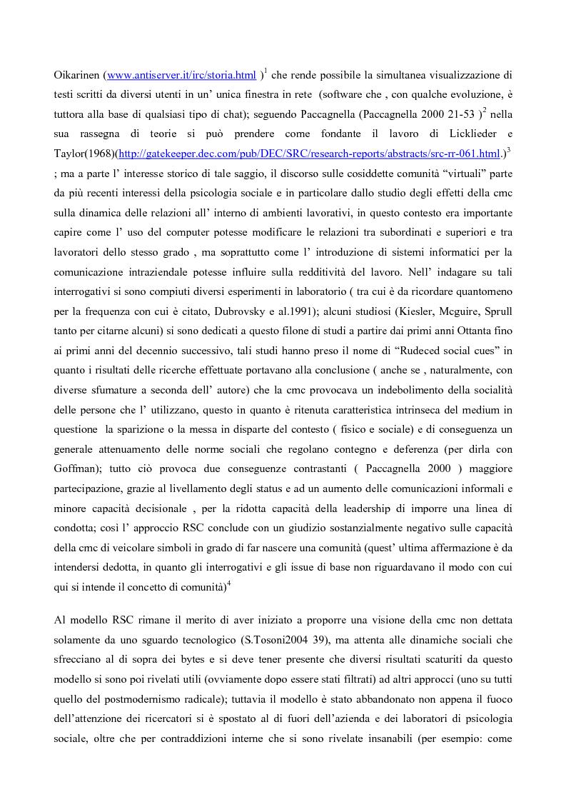 Anteprima della tesi: L' interazione in irc, Pagina 2
